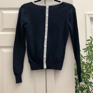 Forever21 Button-Back Navy Sweater